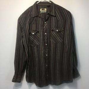Western Trails Shirts - Western Trails XL Mens Shirt Button Front